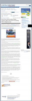 Forex Peace Army -  Contra Costa Times - Traders Insomnia Help Method