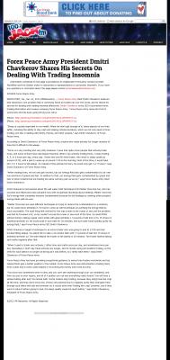 Forex Peace Army -  KFMB 100.7 Jack-FM (San Diego, CA) - Traders Insomnia Help Method