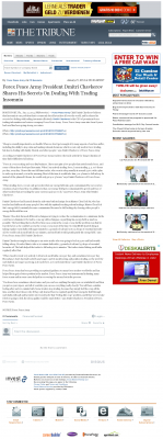 Forex Peace Army -  Tribune (San Luis Obispo, CA) - Traders Insomnia Help Method
