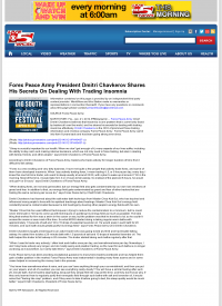 Forex Peace Army -  WCSC CBS-5 (Charleston, SC) - Traders Insomnia Help Method