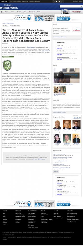 Dmitri Chavkerov - Nashville Business Journal- Trading Instrument