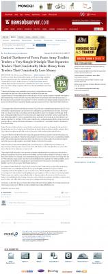 Dmitri Chavkerov -  News & Observer (Raleigh, NC) - Trading Instrument